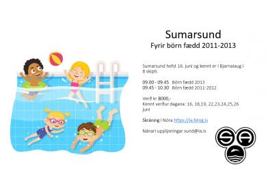 Sumarsund börn fædd 2011-2013